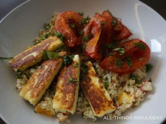 Tomato Halloumi Cous cous recipe detail